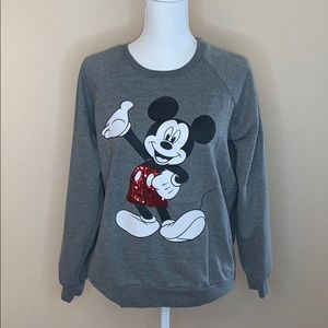 Mickey Mouse sequin crewneck sweater